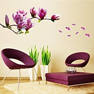 Wall Stickers Wall Decals, Natural Romantic Mangnolia PVC Wall Stickers