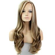 28 pulgadas de onda larga calor femenino fibra resistente peluca sintética