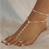 Elegant White Pearl Barefoot Sandal*1 piece Jewelry