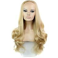 половина парик 30 дюймов длинные вьющиеся жаропрочных волокна синтетические женщина парик