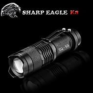 נשר חד® פנס LED LED 500LM Lumens מצב Cree XR-E Q5 14500עמיד למים / ניתן לטעינה מחדש / עמיד לחבטות / אחיזה נגד החלקה / Strike Bezel /