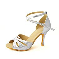 """Scarpe da ballo - Disponibile """"su misura"""" - Donna - Latinoamericano / Sala da ballo Glitter - Oro / Argento / Rosso / Marrone"""
