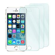 3 Pacote 0,26 milímetros protetor de tela de vidro temperado com um pano de microfibra para iphone 5 / 5s / 5c