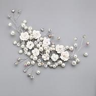 Mulheres / Menina das Flores Crostal / Liga / Imitação de Pérola Capacete-Casamento / Ocasião Especial / Ao ar Livre Flores Claro