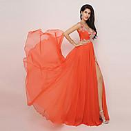 A-line V-neck Knee-length Evening Dress