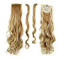 eccellente qualità sintetico lungo pezzo clip di capelli ricci 26 pollici in coda di cavallo