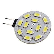 2w g4 LED reflektor 12 SMD 5730 180-210 lm meleg fehér / hideg fehér DC 12 V-