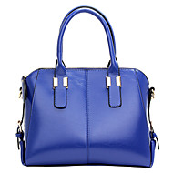 Women PU Shell Tote - Blue / Yellow / Red / Black