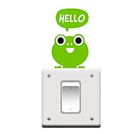 switch wall stickers Vægoverføringsbilleder, tegneserie Frøen pvc skifte mærkat