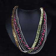 Women's Stainless Steel Necklace With Crystal/Rhinestone