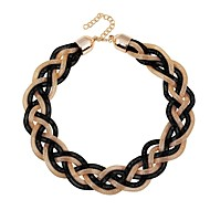 Fashion Fan Exaggeration Heavy Metal Braided Clavicle Chain Necklace