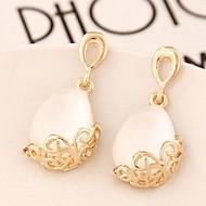 Women's Fashion Sweet Drops Alloy Drop Earrings With Opal