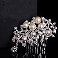 Pearls Wedding Bride Flower Combs Headpiece