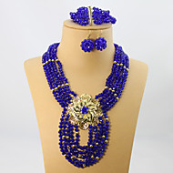 African Party Beads Jewelry Set Women Costume Jewelry Set