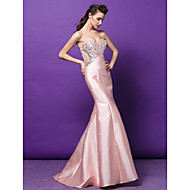 Formal Evening Dress - Pearl Pink Plus Sizes / Petite Trumpet/Mermaid Sweetheart Sweep/Brush Train Satin