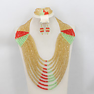 2015 Exclusive African Beads Jewelry Set Nigerian Party Women Crystal Jewelry Set