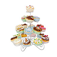 23 Count 4 Tier Cupcake Stand for Wedding / Birthday Party, Cupcake Tower,Stainless Steel