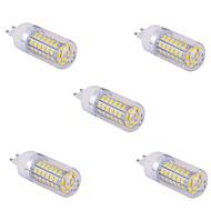 5 יח G9 15 w 60 x SMD 5730 1500 lm 2800-3200 / 6000-6500 k חם / לבן AC נורות תירס לבן מגניב 110/220 V