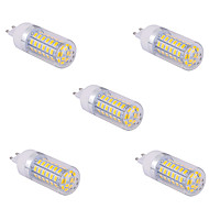 5 pcs G9 15 W 60 X SMD 5730 1500 LM 2800-3200/6000-6500 K Warm White/Cool White Corn Bulbs AC 85-265 V