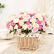 15 päät moderni tyyli silkki kangas pieni ruusut monivärinen valinnainen joukko 2