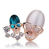 Charm Angel Austrian Crystal Fashion Elegant Unique Skull Shape Brooch for Wedding & Party