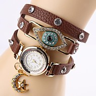 Women's Eye Rhinestone Buckle Ornamental Watch