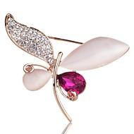 Charm Angel Austrian Crystal Fashion Elegant Dragonfly Shape Brooch for Wedding & Party