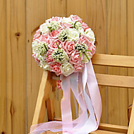 Wedding Bouquet PE Silk Cloth Romantic Wedding Bride Holding Flowers