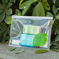 a4 Kunststoff transparent Reißverschluss wasserdicht Papier-Ordner (10pcs)