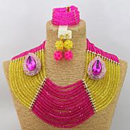 African Wedding Beads Jewelry Set Women Fashion Jewelry Necklace Bracelet Set AC082