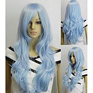 populární anime blue fashion kudrnaté paruka