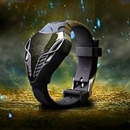 Men's Hot Style Military Watch Head of The Snake Dial Quartz Digital LED Wrist Watch Cool Watch Unique Watch Fashion Watch