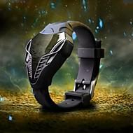 男性 軍用腕時計 リストウォッチ デジタルウォッチ LED デジタル シリコーン バンド ブラック 白