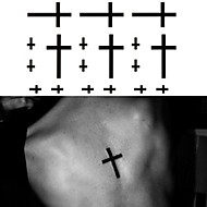 the Cross Beads Tattoo Stickers Temporary Tattoos(1 Pc)