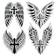 Tatuointitarrat - Yimei - Muut - Paperi - Suuri koko/Waterproof 25cm*21.5cm - Musta - 1 - Naisten/Miesten/Aikuinen/Teini