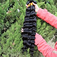 3pcs Lot 5A Unprocessed Malaysian Virgin Hair Loose Wave  Human Hair Extensions Natural Black Hair Weaves
