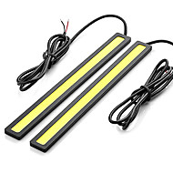 2pcs 17cm 7.5W 600-700LM Daytime Running light White Color High Power COB DRL Waterproof IP68 Daylight(12V)