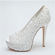Women's Wedding Shoes Heels/Peep Toe/Platform Heels Wedding Black/Pink/Ivory/White