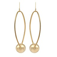 PEROY women's Stainless Steel/Brass Hoop Earrings With Non Stone