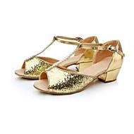 Sapatos de Dança ( Vermelho/Prateado/Dourado ) - Mulheres/Crianças - Não Personalizável - Latim