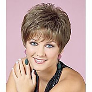 topkwaliteit Natrural pruik grijs kort krullend pruiken van synthetisch haar voor het dagelijks leven
