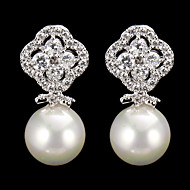 Drop Earrings Women's Cubic Zirconia/Pearl/Alloy Earring