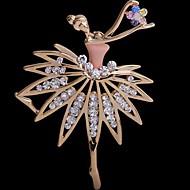 Tina -- Korean Cute Alloy Ballet Girl Fashion Brooch in Party