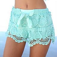 Women's Blue/White Shorts Pants , Lace