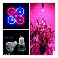 1 kpl GU10 5.0 W 3 Teho-LED 500 LM Punainen/Sininen PAR LED-kasvivalo AC 85-265 V