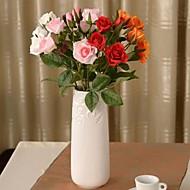 """19,2 """"L sarja 1 romanttinen 4 päätä ruusuja silkki kangas kukkia"""