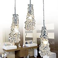 maishang® tradição vidro transparente clássico 3 lustre luz