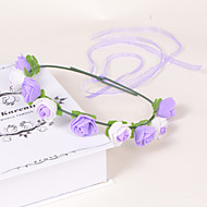 Romantic Lavender Foam/Plastic Wreaths With Wedding/Party Headpiece