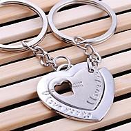 διπλή καρδιά του γάμου κλειδί μπρελόκ δαχτυλίδι για την ημέρα του εραστή του Αγίου Βαλεντίνου (ζεύγος)