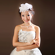 Women Satin/Chiffon Flowers/Forehead Jewelry With Rhinestone Wedding/Party Headpiece